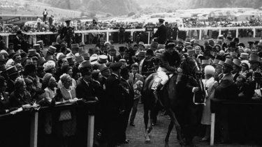 A memorable day at the races: Sea Bird in 1965.