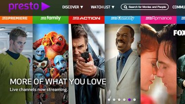 Fast track: New release movies are Foxtel Presto's strong suit.