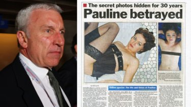 News Limited CEO John Hartigan, left, admits his newspapers were wrong to publish photos that falsely claimed to be of Pauline Hanson.