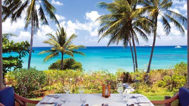 The view from Osprey Restaurant, Lizard Island.