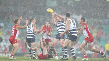 The Cats lapped up the water at the SCG  on April 16 as they beat the Swans by 27 points.