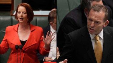 Prime Minister Julia Gillard and the Opposition Leader, Tony Abbott.