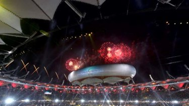 More trouble  ... the Jawaharlal Nehru Stadium, which hosted the closing ceremony, has been looted.