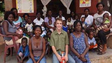 Boyd Whalan on his trip to Ghana last year.