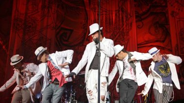 """Backstreet Boys perform in 2005 ... """" It should have been cheesy and passé but it was totally loveable."""""""