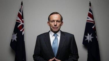 Tied to habit: Prime MinisterTony Abbott.
