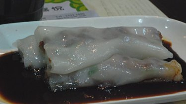 Barbecue pork rice rolls.