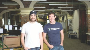 Atlassian founders Mike Cannon-Brookes and Scott Farquhar.