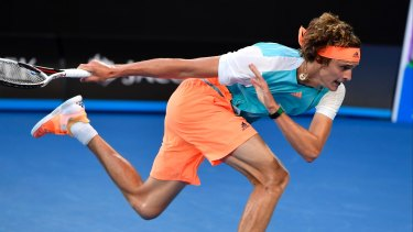 Germany's Alexander Zverev pushed to the limit.