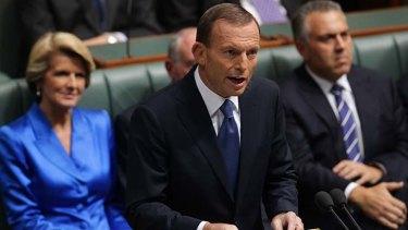 Mr Abbott: Backing unpopular cuts.