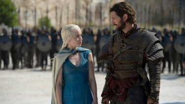 Sparks fly ... Daenerys Targaryen is finally wooed by Daario Naharis.