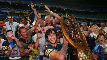 Home-town hero Johnathan Thurston has renewed his call for the Coalition to stump up for a new Townsville stadium.