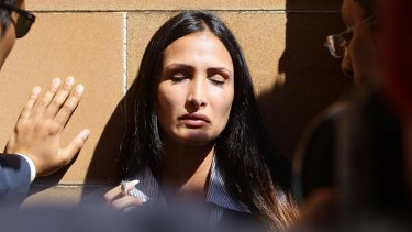 Passion and pain: Rachelle Louise outside court on Wednesday.