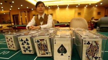 Gambling revenue in Macau plunged 23 per cent in October.