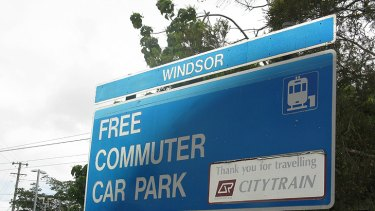 The LNP says park 'n' ride facilities, like this one at Windsor in Brisbane, should be established closer to the CBD.