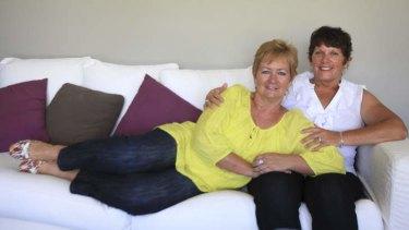 Happy together: Amanda Harris and Karen Di Stefano.