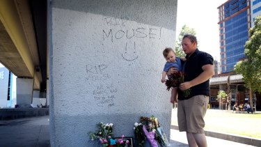 Wayne Perry's son Brad Anderson visits the place where his father was fatally stabbed.