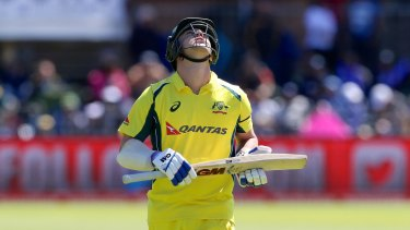 Travis Head is dismissed in the fourth ODI.