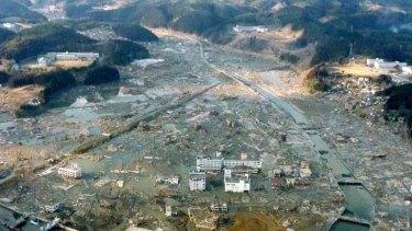 The submerged town of Minamisanriku.