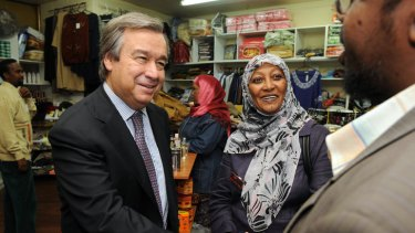 UN High commissioner for refugees Antonio Guterres in Footscray, in 2009.