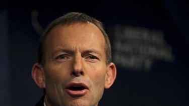 Against gay marriage ... Tony Abbott.