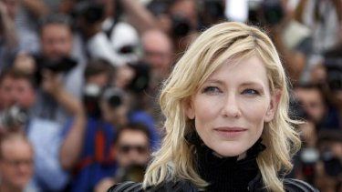 Cate Blanchett poses during a photocall for the film <i>Carol</i> at the 68th Cannes Film Festival.