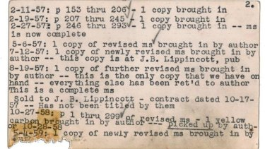 Annie Laurie Williams, an agent who worked with the young writer, kept records of Harper Lee's <i>Go Set a Watchman</i>, which was drafted before <i>To Kill a Mockingbird</i>.
