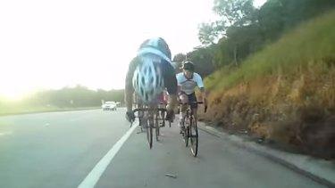Byron Bay cyclist Anthony Condon's dramatic crash.