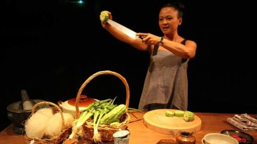 Dinner and a show: Pauline Nguyen in The Serpent's Table.