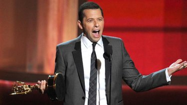 Low moment ... Jon Cryer wins Outstanding Lead Actor in a Comedy Series for <em>Two and a Half Men</em>.