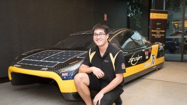 UNSW student Glenn Ong is passionate about renewable solar electric cars.