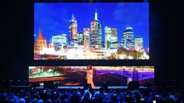 Solo mode ... Oprah Winfrey did not invite any guests on stage during her show at Rod Laver Arena.