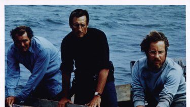 We're going to need a bigger boat: Robert Shaw, Roy Schneider and Richard Dreyfruss in