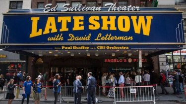 The Ed Sullivan Theater, where <I>The Late Show with David Letterman</i> is filmed, just before the final show with David Letterman.