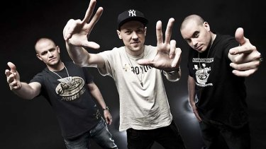 Hilltop Hoods ... most popular artists downloaded in Australia.