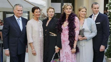 Private lives: the Bauers - Heinz, Gudrun, Nicole, Yvonne, Mirya and Sven Olav Riemers.