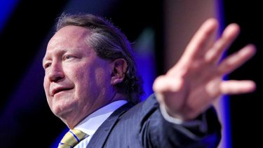 Andrew Forrest argues the mining tax discriminates between the states.