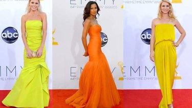 Citrus stars ... Julie Bowen, Padma Lakshmi and Claire Danes were all red carpet winners.