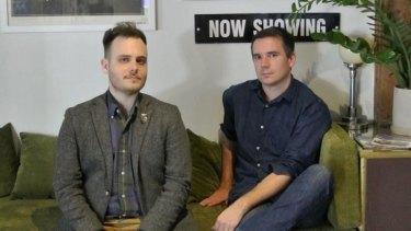 Queensland Film Festival founders Huw Walmsley-Evans and John Edmond.
