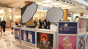 Little Masterpiece Studio commonly set up in shopping centres around Australia.