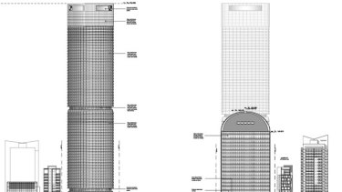 "Plans reveal the ""Bon Bon"" shape of the 111 +222 tower."