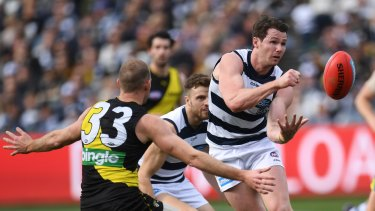 Geelong enjoyed their home ground advantage in the win over Richmond in round 21.