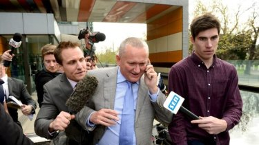 Judgment day: Stephen Dank after Essendon's defeat in the Federal Court.