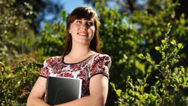 Matilda Brown from Launceston, is hoping for a place in RMIT's  bachelor of environmental engineering course.