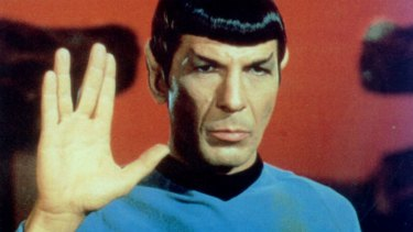 Back to t he future ... Leonard Nimoy as Spock in Star Trek.