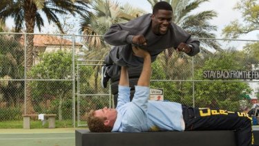 It's impossible to draw the line between homoeroticism and good clean fun in <i>Get Hard</i>, starring Will Ferrell and Kevin Hart.