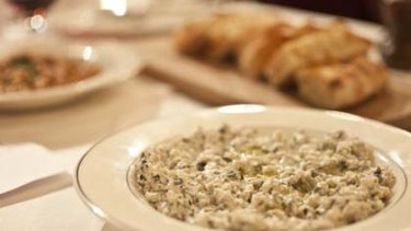 Dovme ...  a pearl barley and yoghurt dish that is all about lightness and texture.