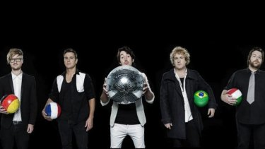 Melbourne band Vaudeville Smash whose football-themed song 'Zinedine Zidane' has becomean unlikely viral hit in 2014.