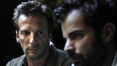 Trenchant claims … writer, director and actor Mathieu Kassovitz, left, stars with Alexandre Steiger.