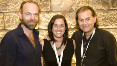 Voices for the animals .... Hugo Weaving, Ondine and Brian Sherman.